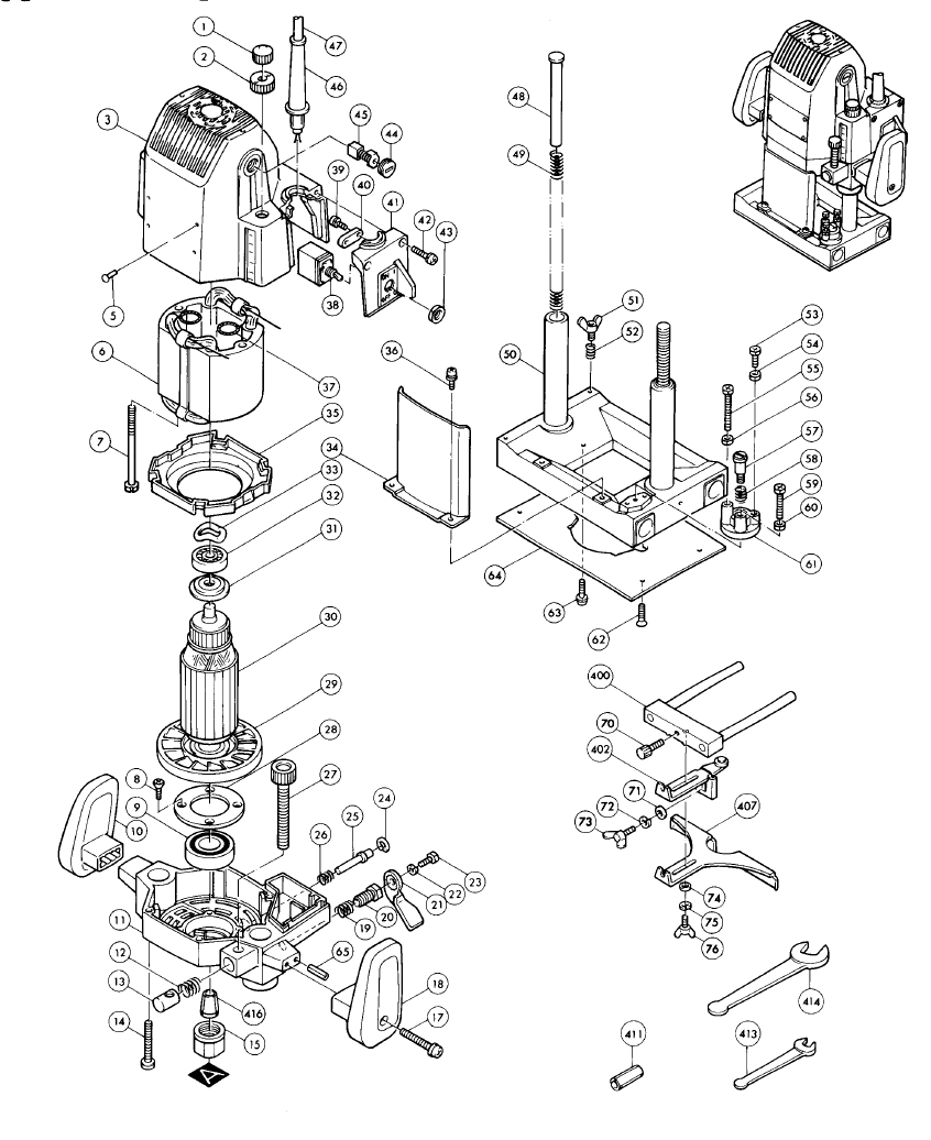 makita router parts