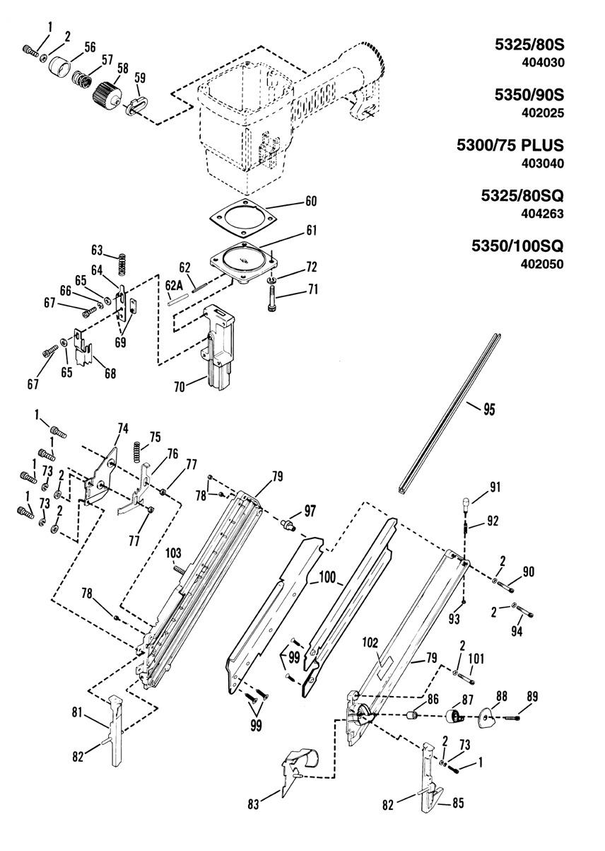 Paslode 5300 Series Parts Diagram - Complete Wiring Diagrams •