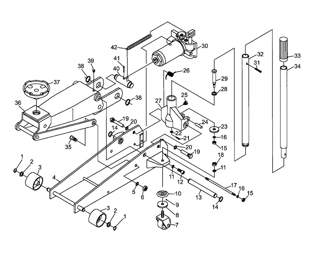 Blackhawk Floor Jack Parts Diagram Com