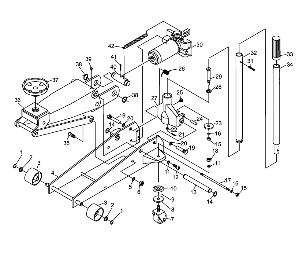 craftsman 3 ton floor jack manual
