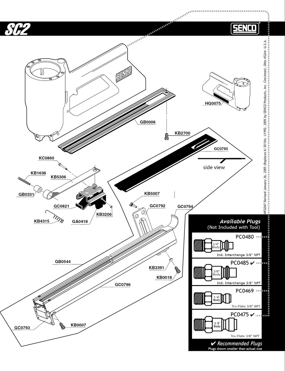 470001N-senco-PB-1Break Down