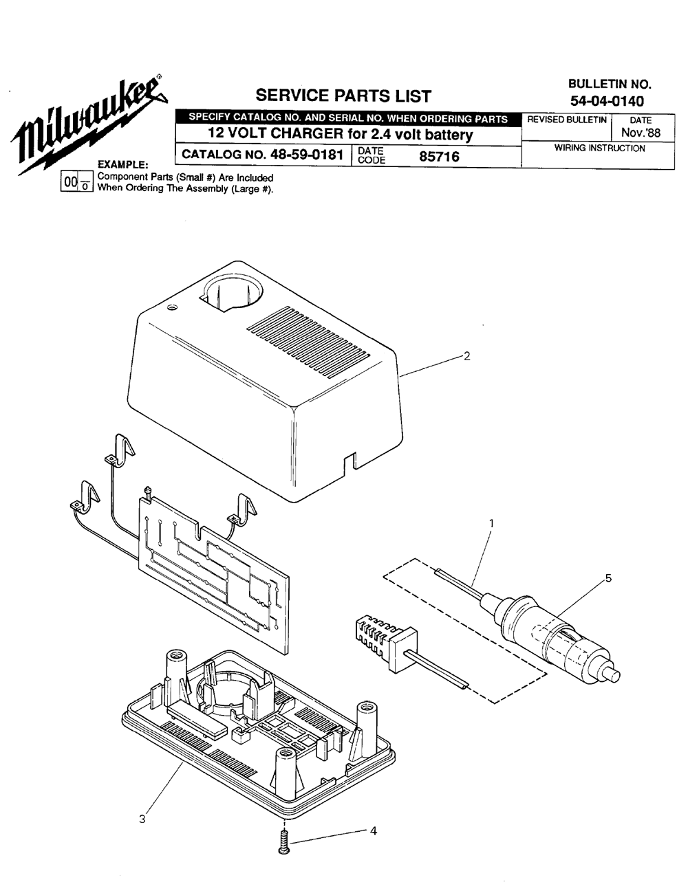 Buy Milwaukee 48 59 0181 85716 12 Volt Charger For 2 4