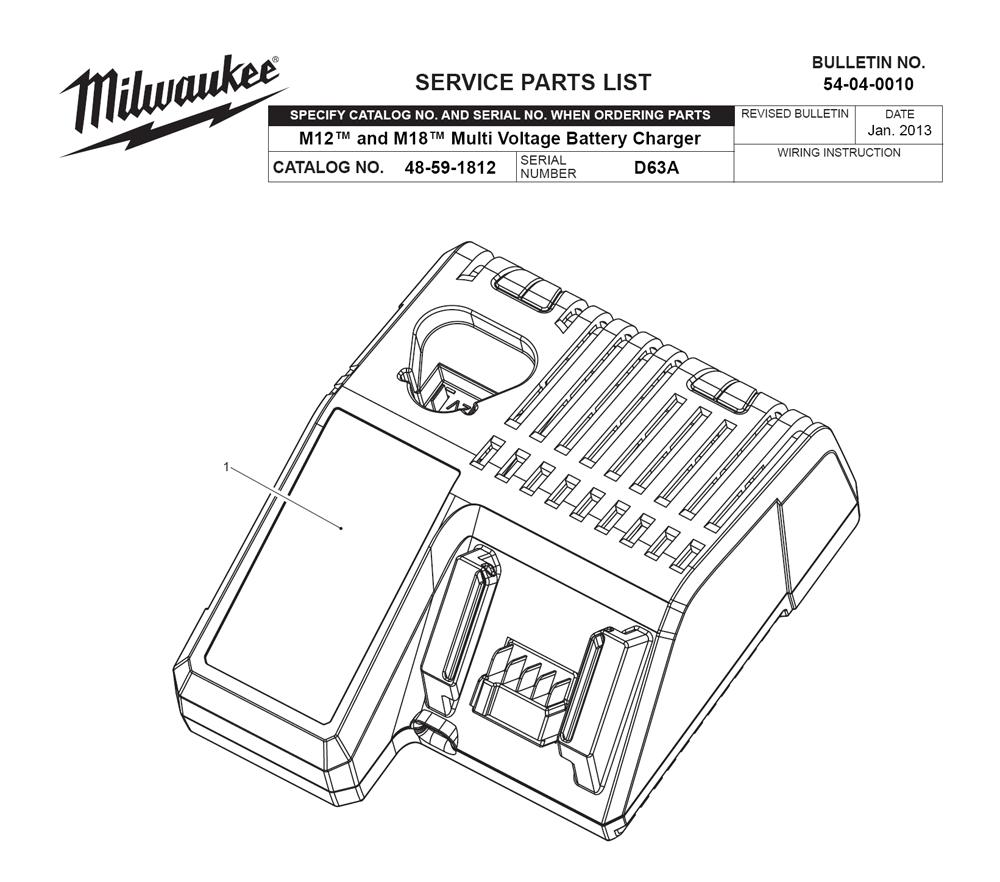 buy milwaukee 48 59 1812 d63a m18 m12 multi voltage. Black Bedroom Furniture Sets. Home Design Ideas