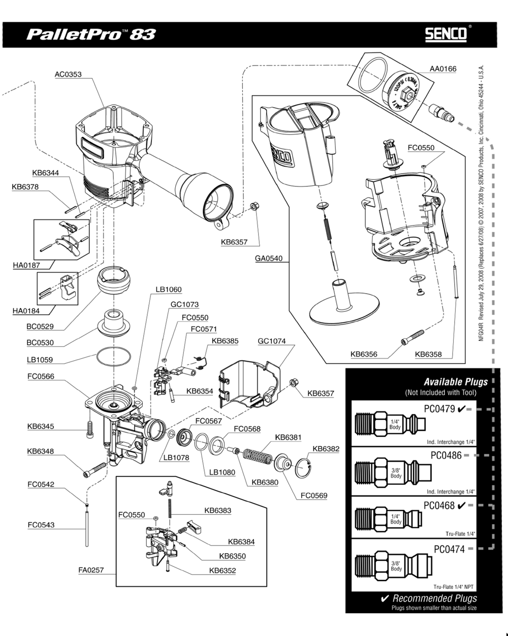 Senco-4R0001N-Parts-3869-PBBreak Down