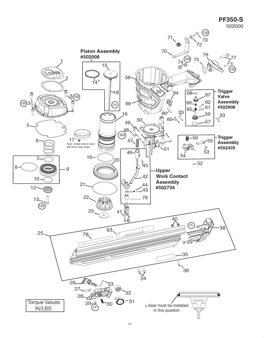paslode 5325 80s parts diagram