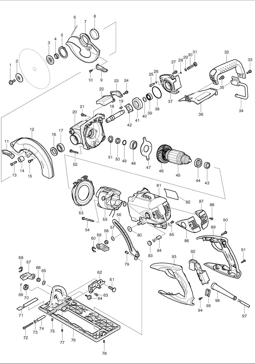 buy makita 5377mg 7 4 inch magnesium hypoid circular replacement tool parts