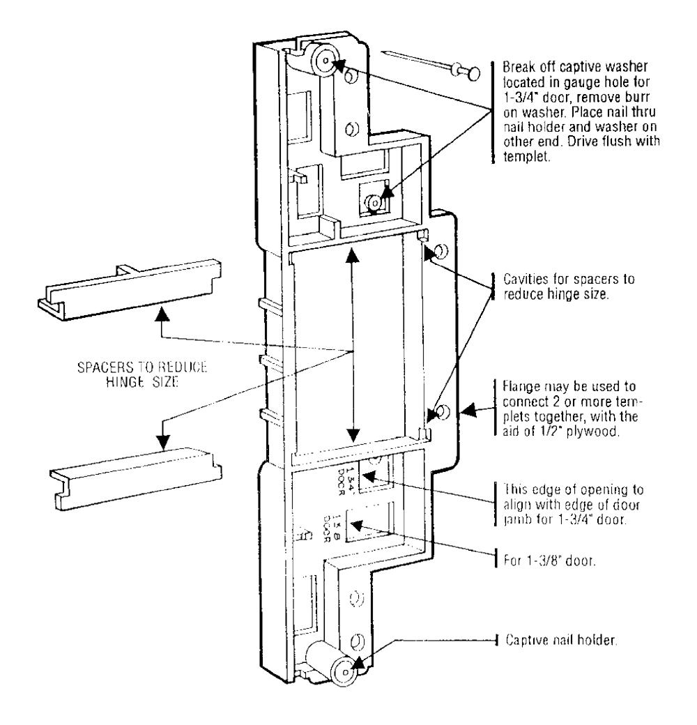 how to make door hinge template - buy porter cable 59370 type 1 door hinge template