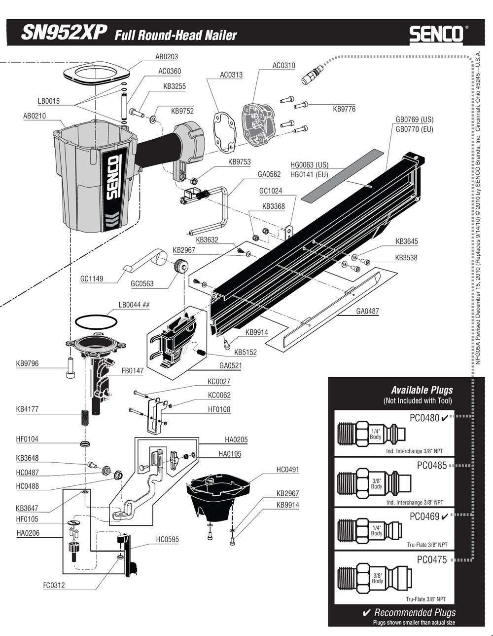 5A0001N-senco-PB-1Break Down