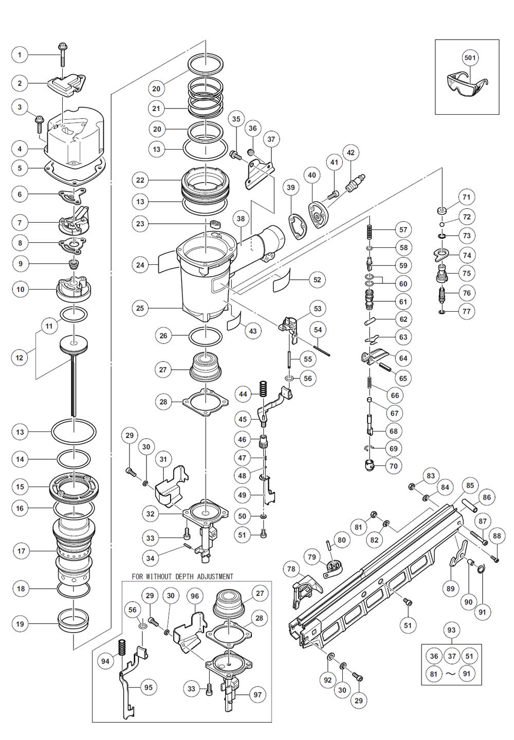 hitachi nr83a3s parts schematic