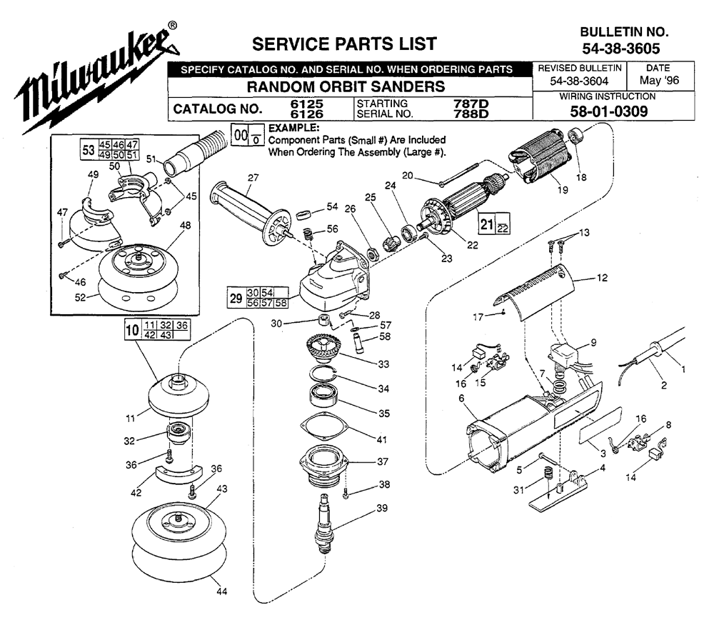 Buy Milwaukee 6125-(787D) Replacement Tool Parts | Milwaukee 6125 ...