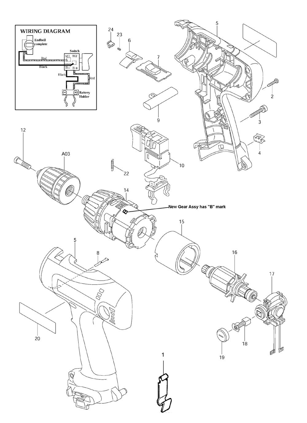 buy makita 6317dwae replacement tool parts