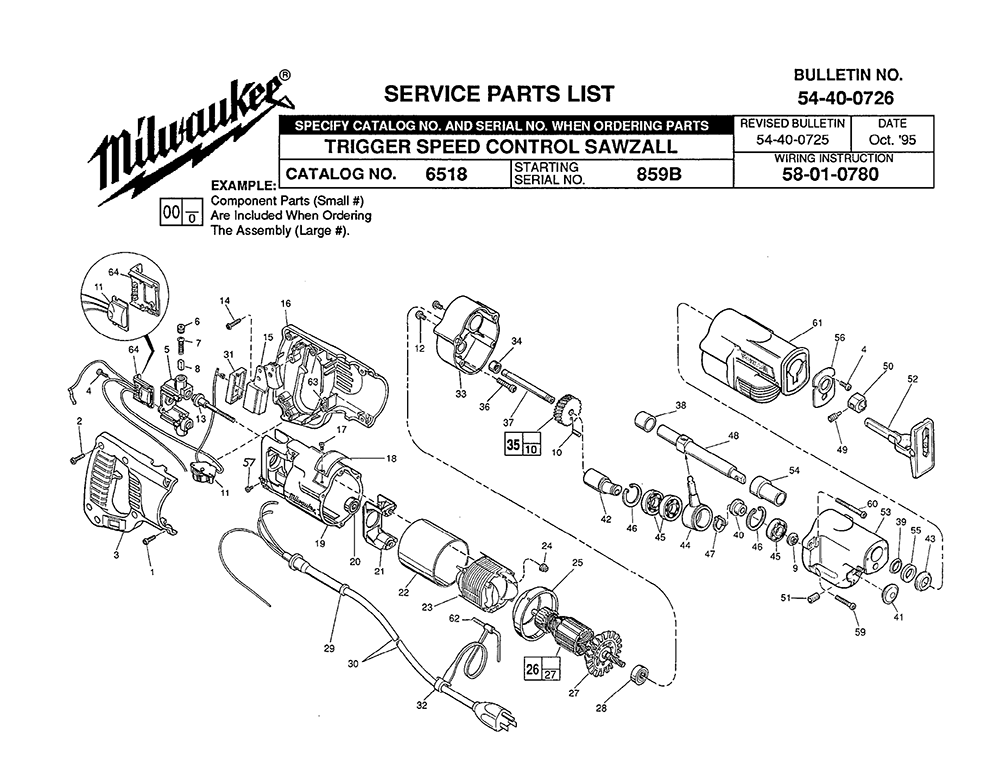 milwaukee 6518 859b PB buy milwaukee 6518 (859b) sawzall plus trigger speed control Chainsaw Diagram at gsmx.co