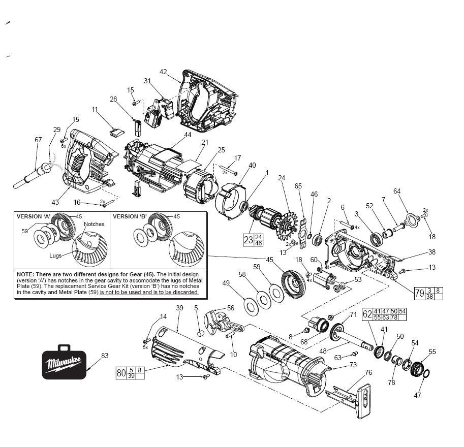 Milwaukee sawzall parts diagram get free image