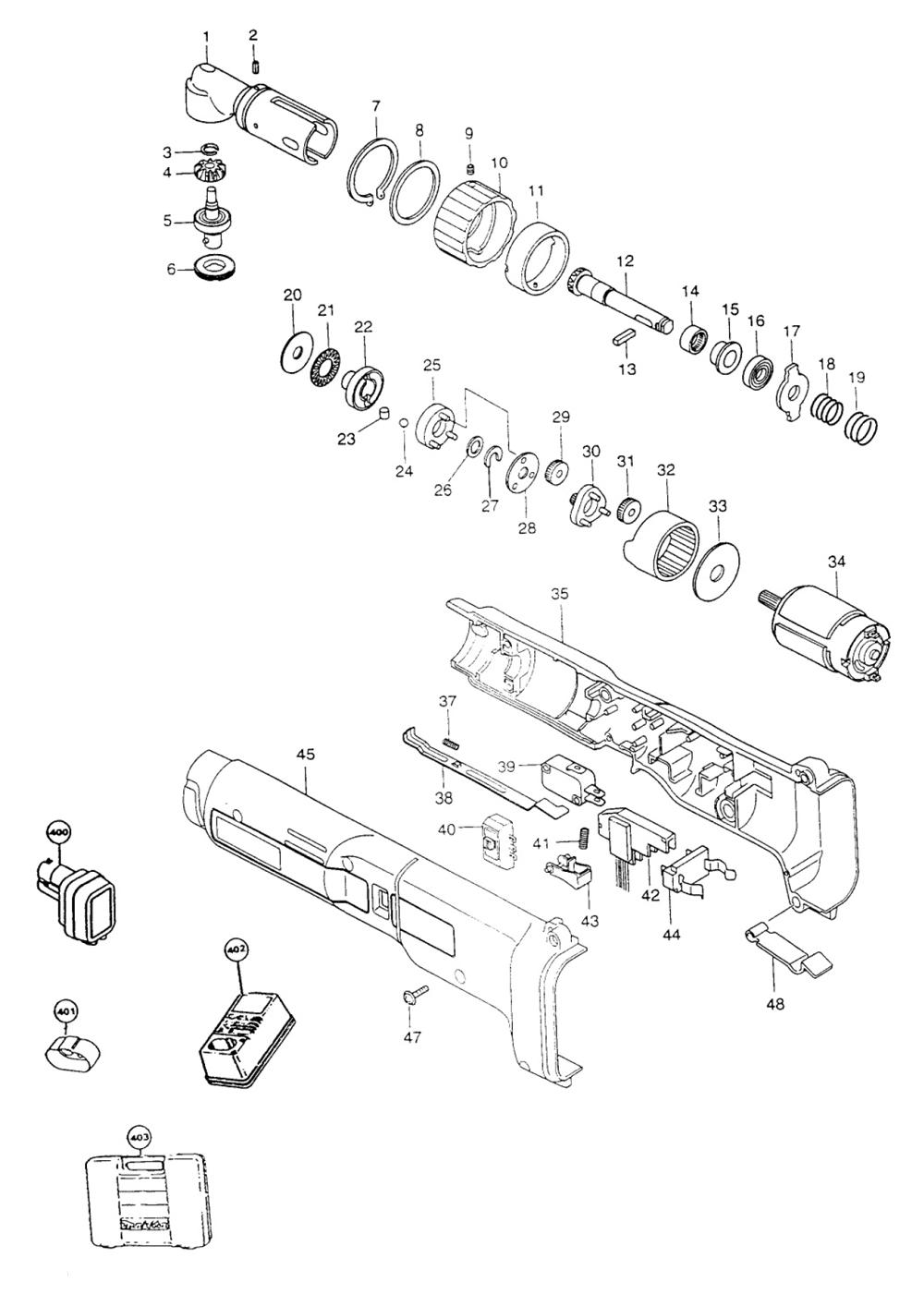 Parts | Makita 6706DW Cordless Impact Wrench & Driver Parts Diagram