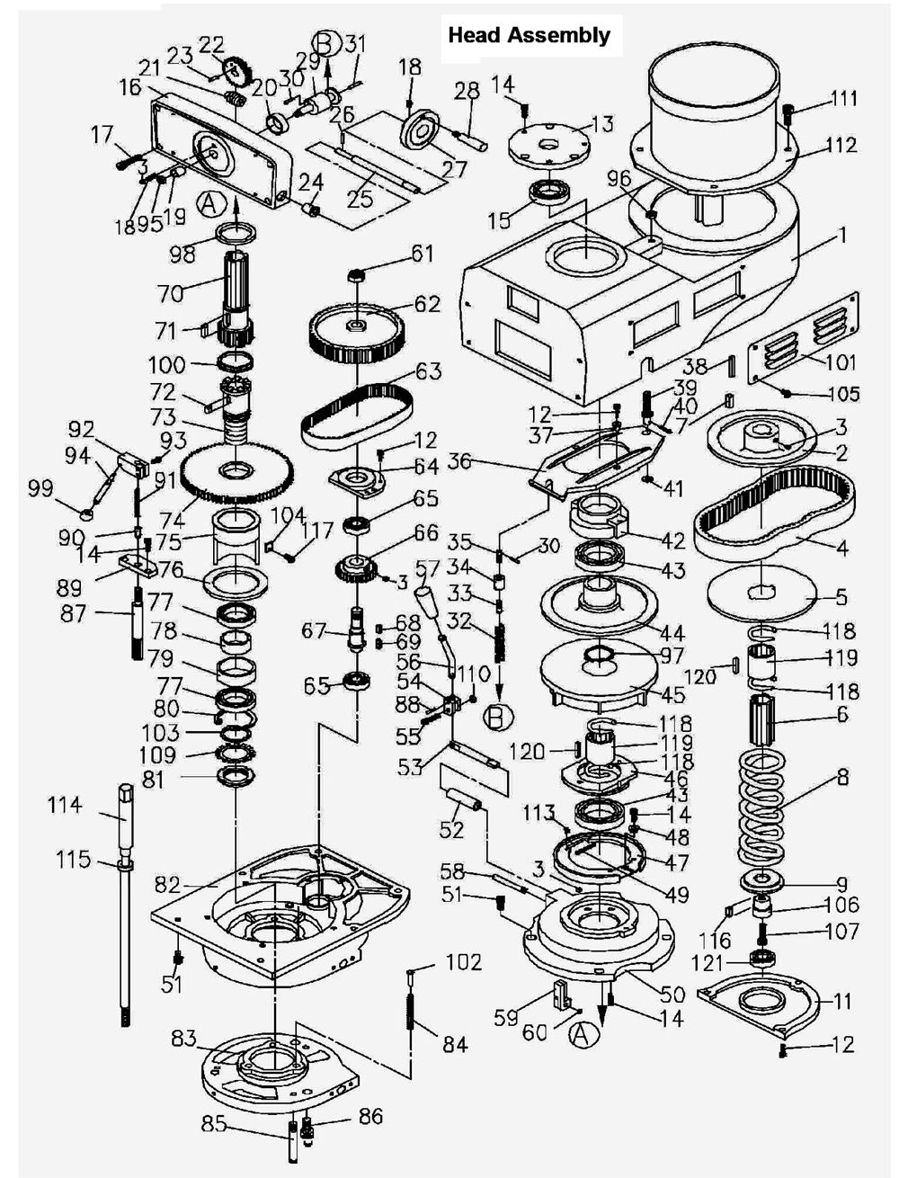 Vertical Milling Machine Diagram Mill Conveyor Jet Planer Wiring Download