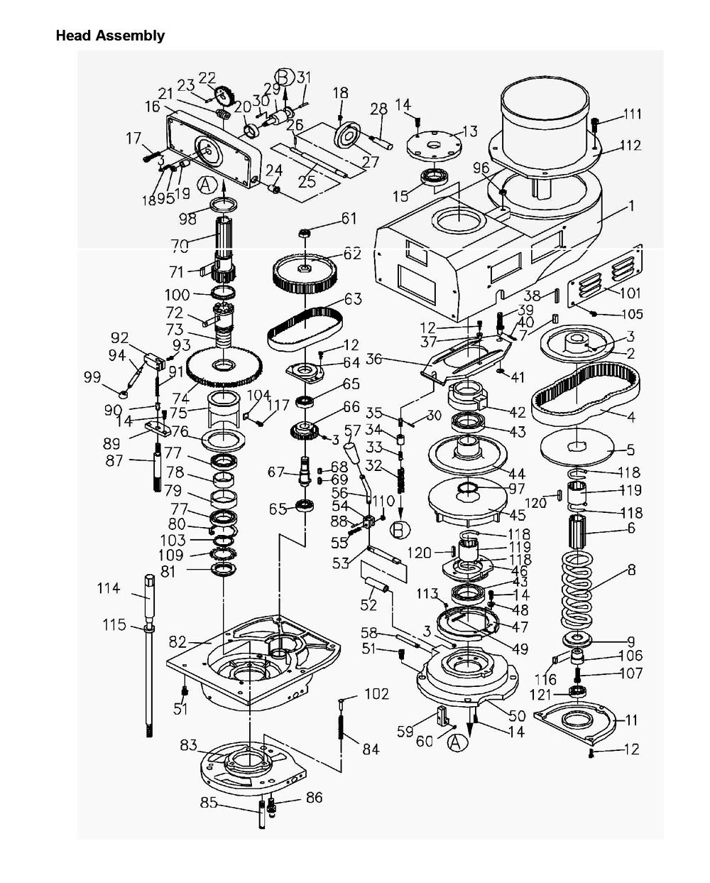 Bridgeport Mill Parts Diagram | Displanet.net
