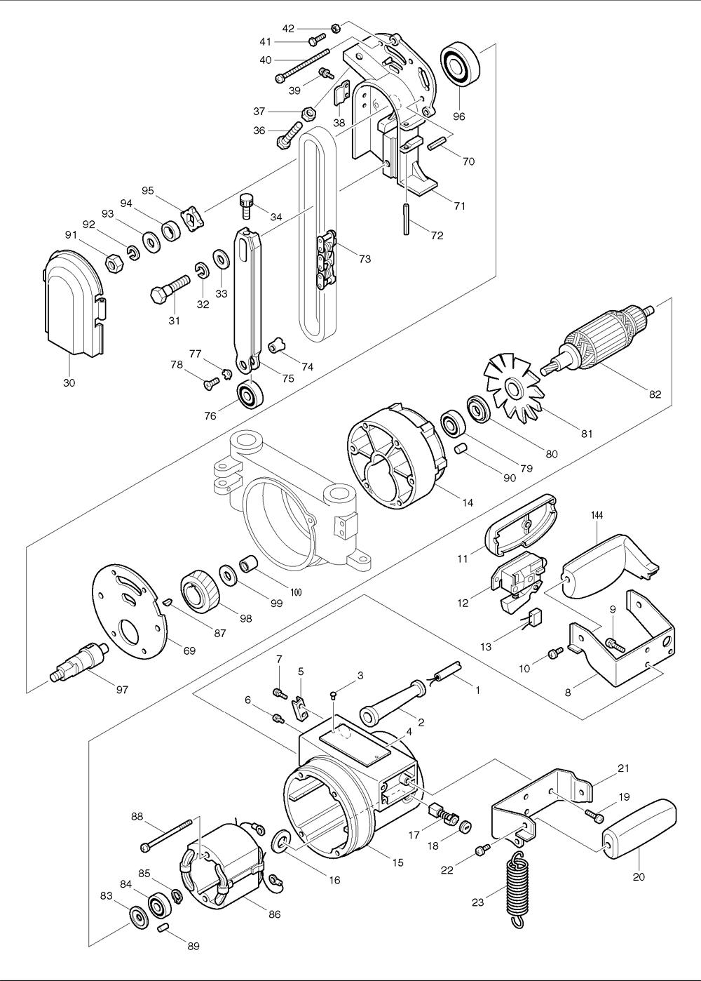 buy makita 7104l chain mortiser replacement tool parts