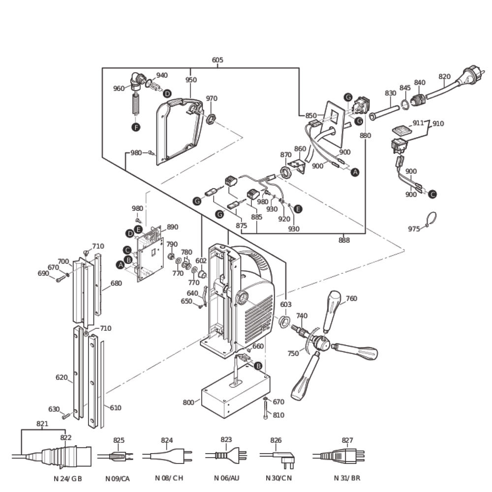 Fein-72702700617-Parts-4000-PBBreak Down