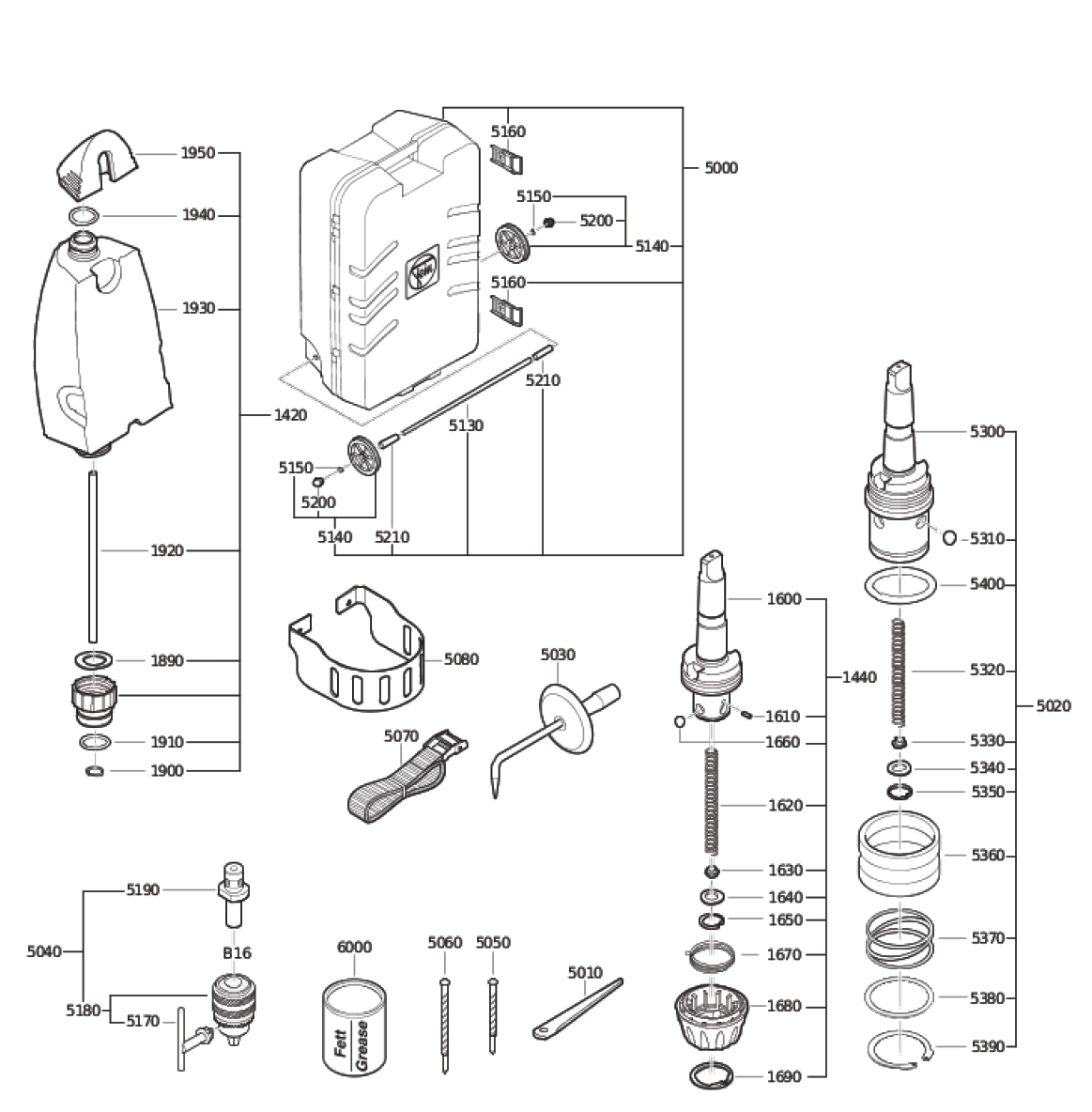 Fein-72703209360-Parts-4013-PBBreak Down