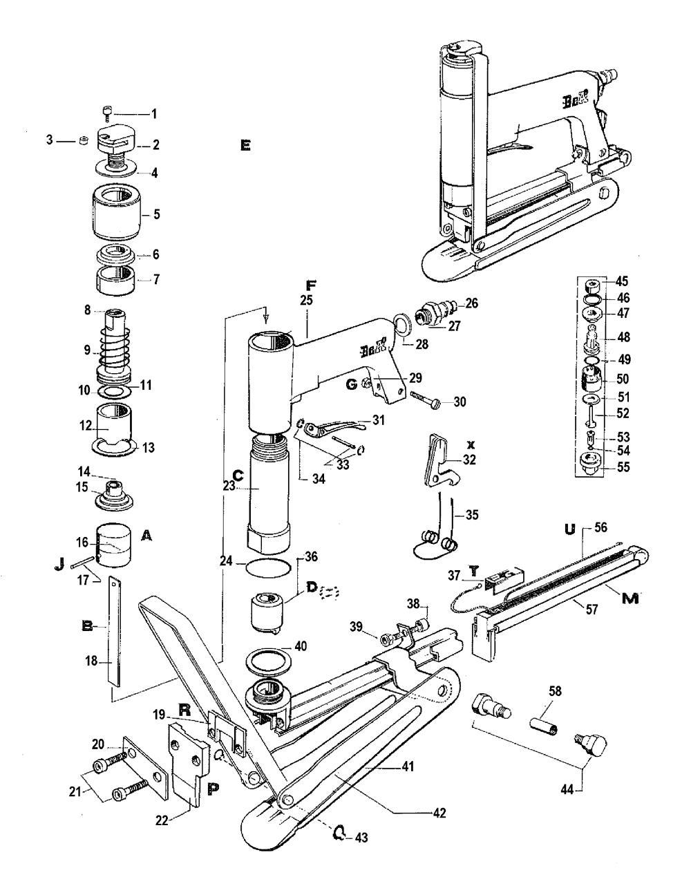 Pneumatic Stapler Diagram Pneumatic Get Free Image About