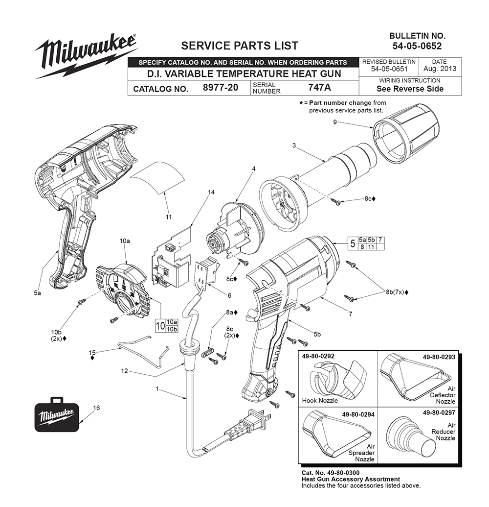 buy milwaukee 8985 747a replacement tool parts. Black Bedroom Furniture Sets. Home Design Ideas
