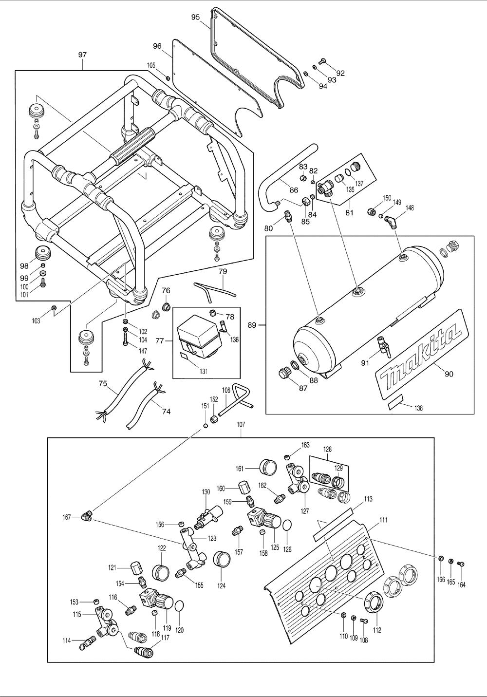 Makita-AC310H-360-PBBreak Down