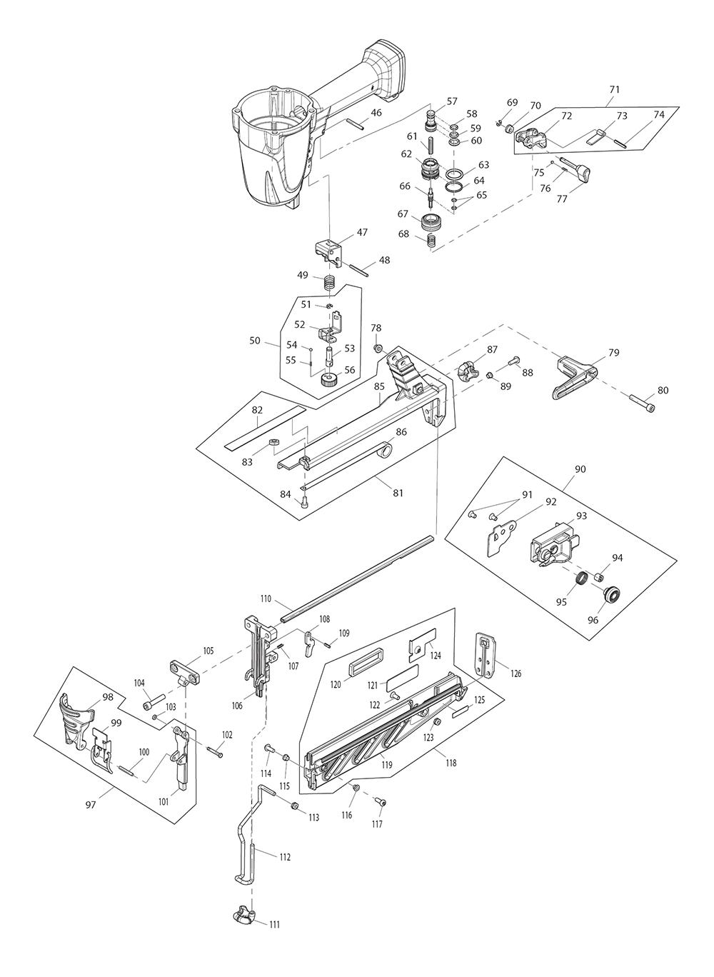 AF601-Makita-PB-1Break Down