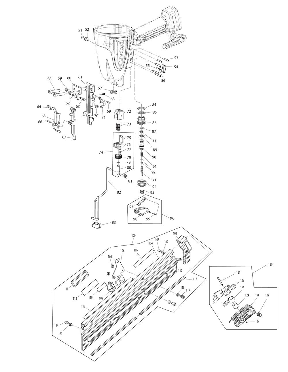 AF635-Makita-PB-1Break Down