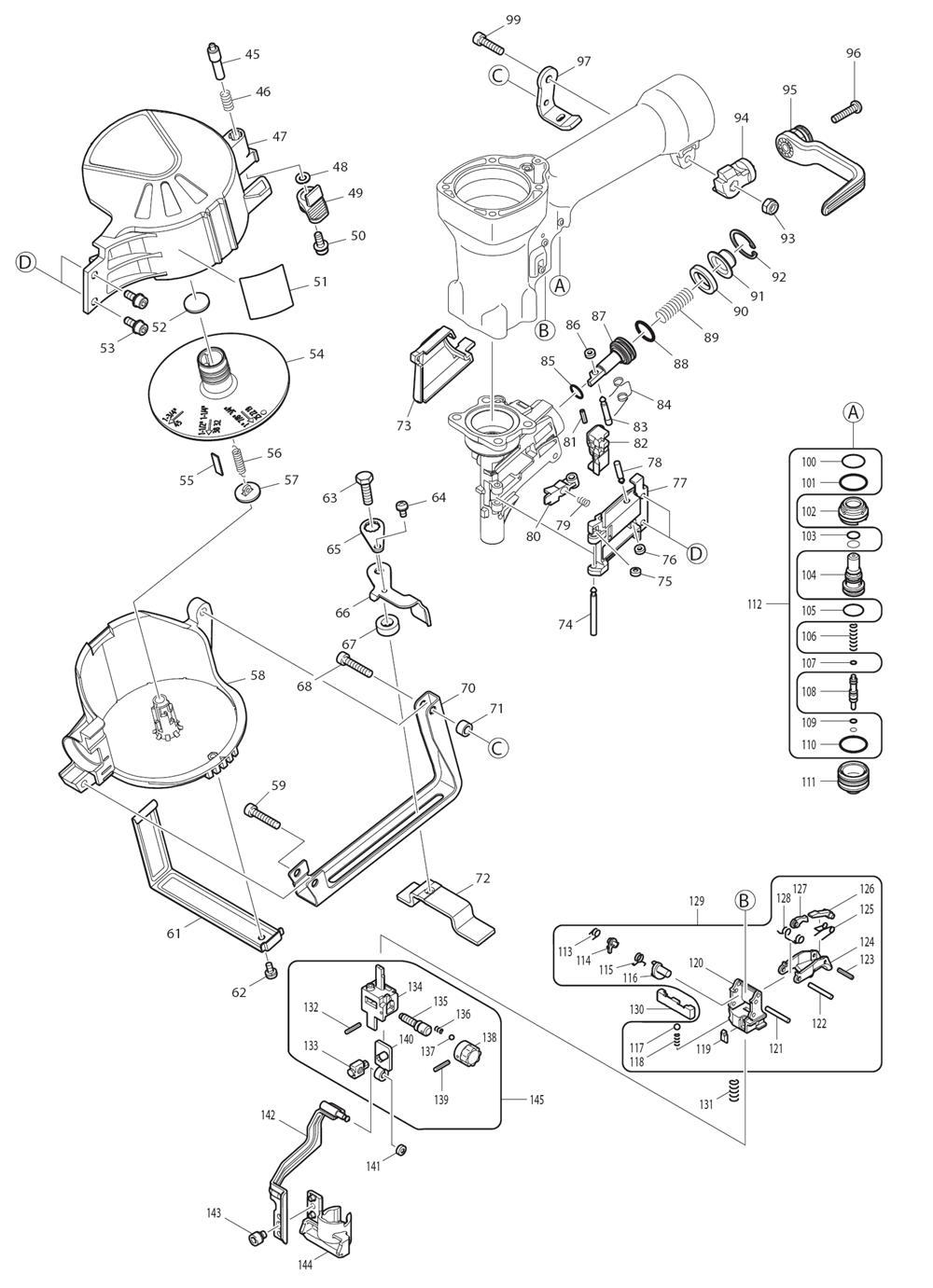 AN450H-T1-Makita-PB-1Break Down