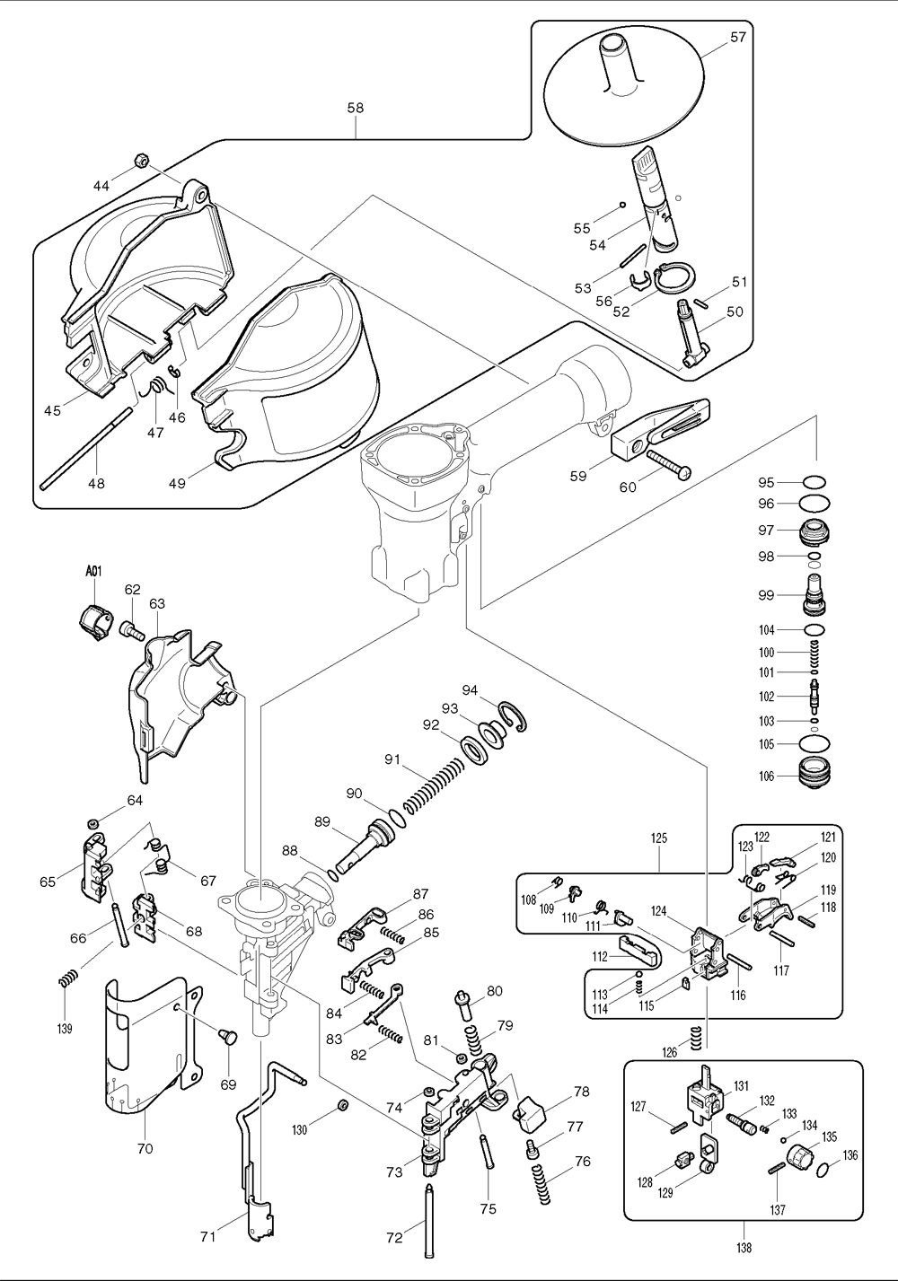 Makita-AN610H-47-PBBreak Down