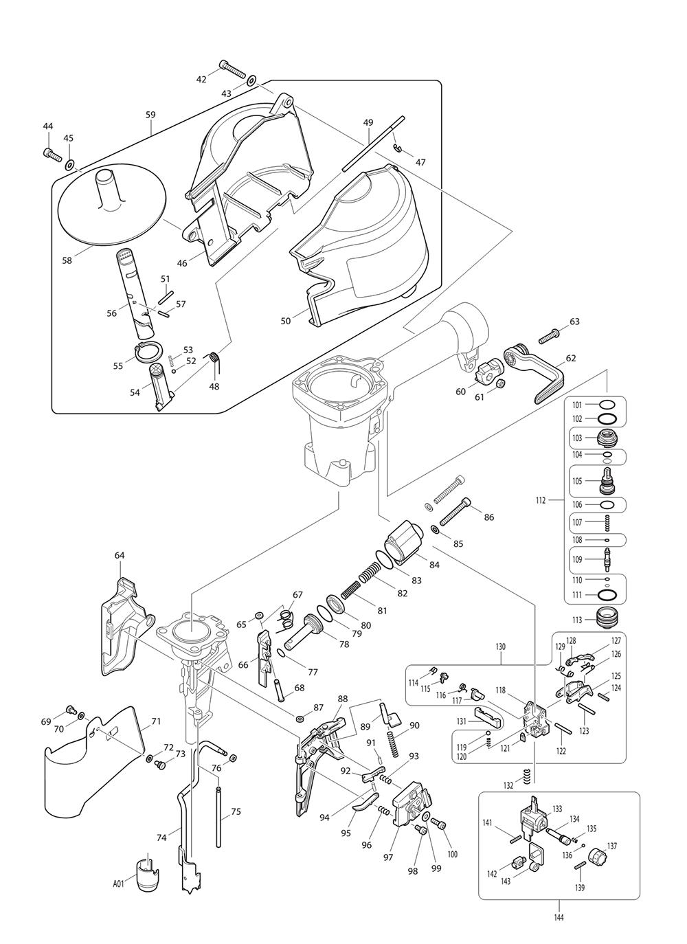 AN911H-T2-Makita-PB-1Break Down