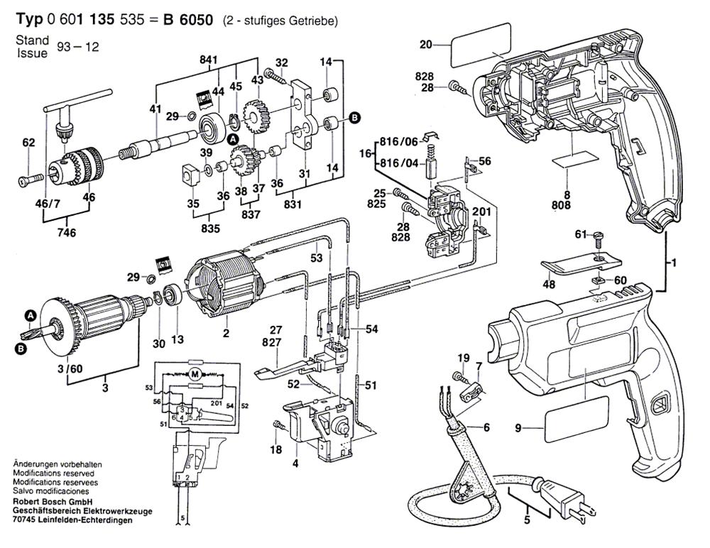 Bosch Bulldog Hammer Drill Parts