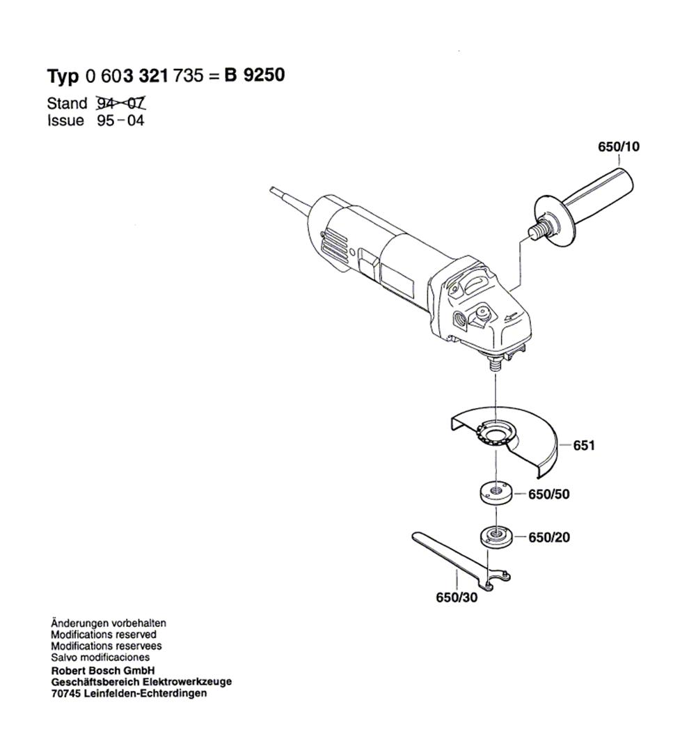 B9250(0603321735)-bosch-PB-1Break Down
