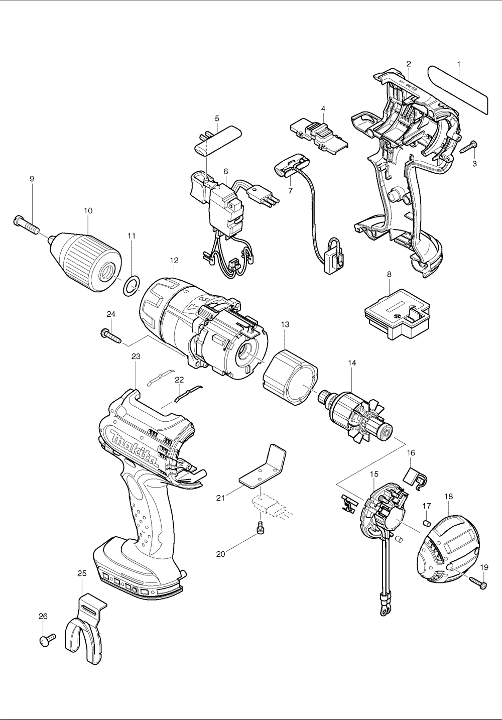electric drill schematic diagram