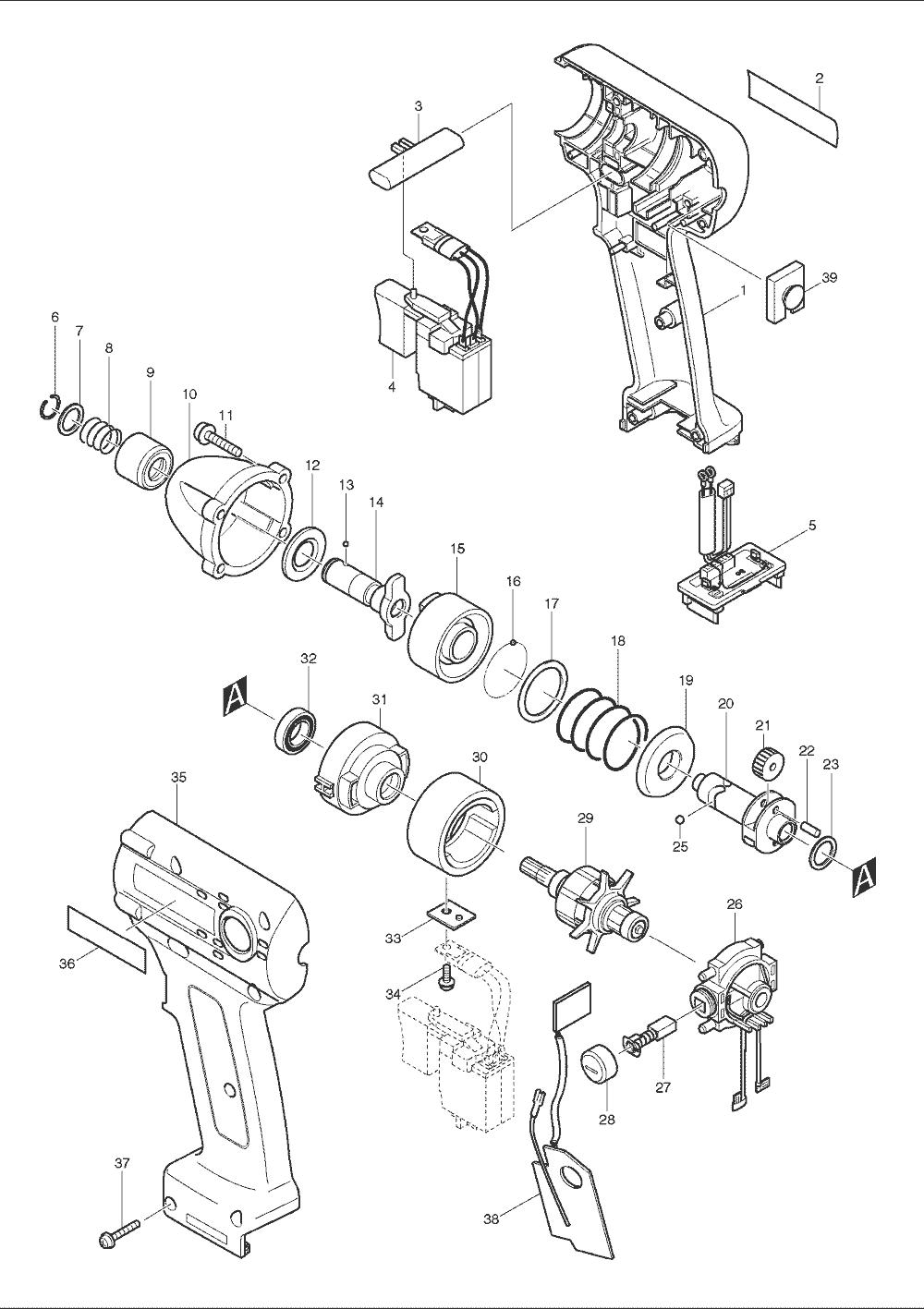 Buy Makita Btd062 Replacement Tool Parts