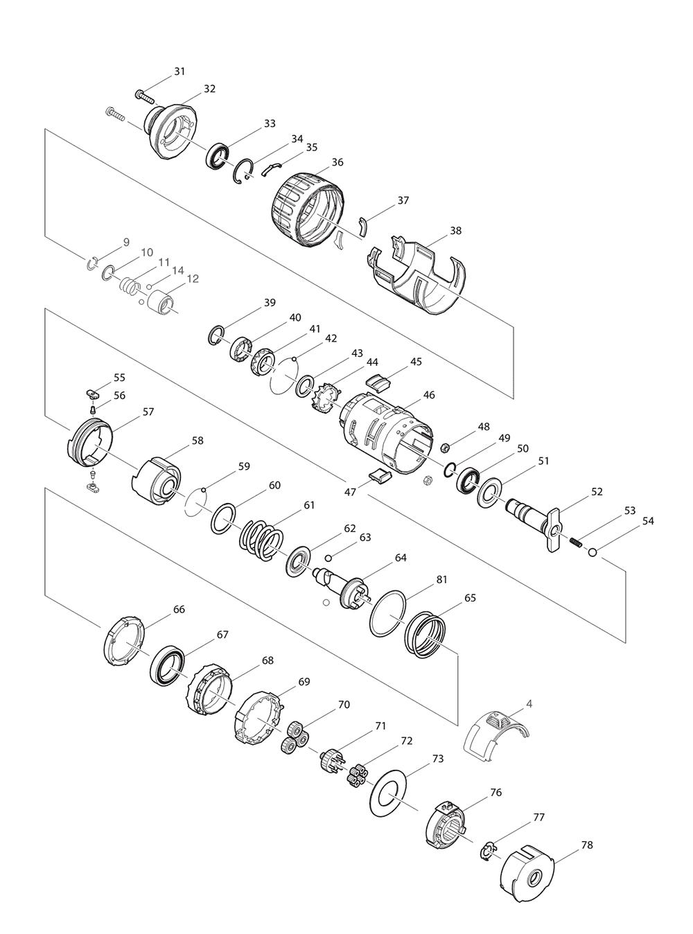 BTP140-T3-Makita-PB-1Break Down