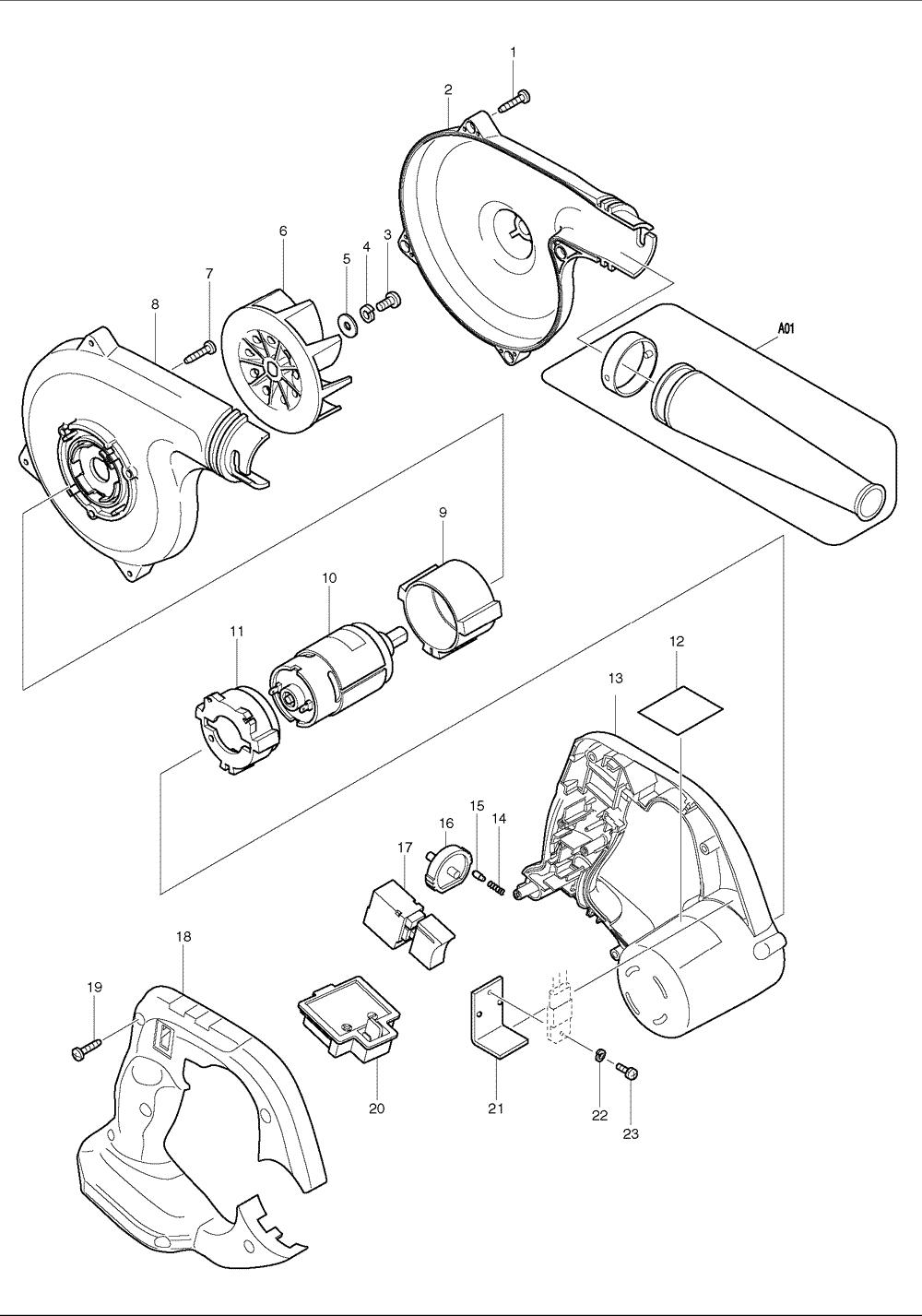 Switch Wiring Diagram For A Makita Bub182: Buy Makita BUB182 Replacement Tool Parts   Makita BUB182 Cordless    ,