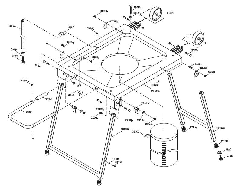 Hitachi-C10FR-Parts-684-PBBreak Down