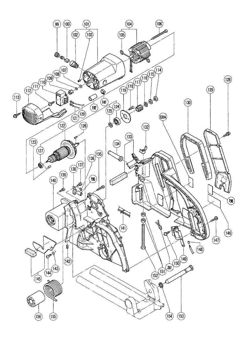 Hitachi-C12FSA-Parts-687-PBBreak Down