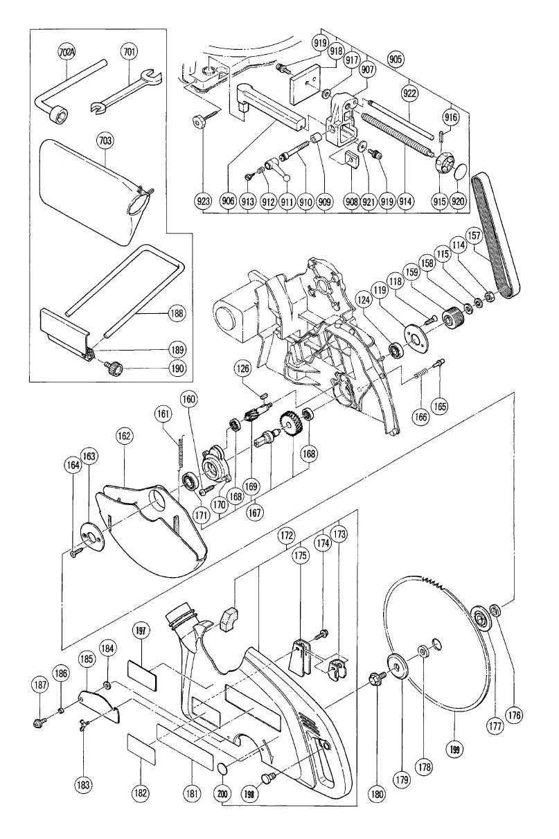 Hitachi-C12FSA-Parts-688-PBBreak Down