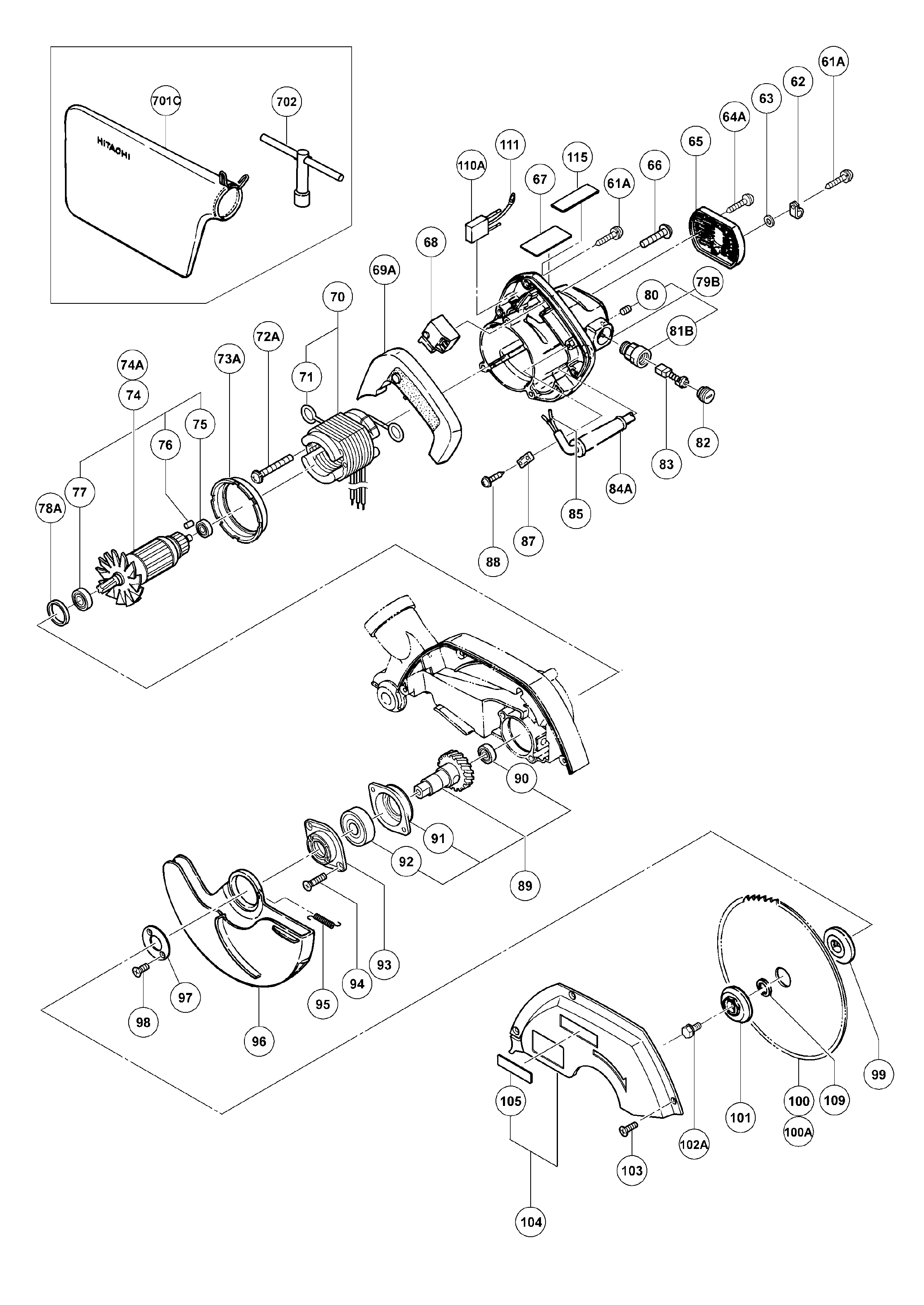 C8FC-Hitachi-PB-1Break Down