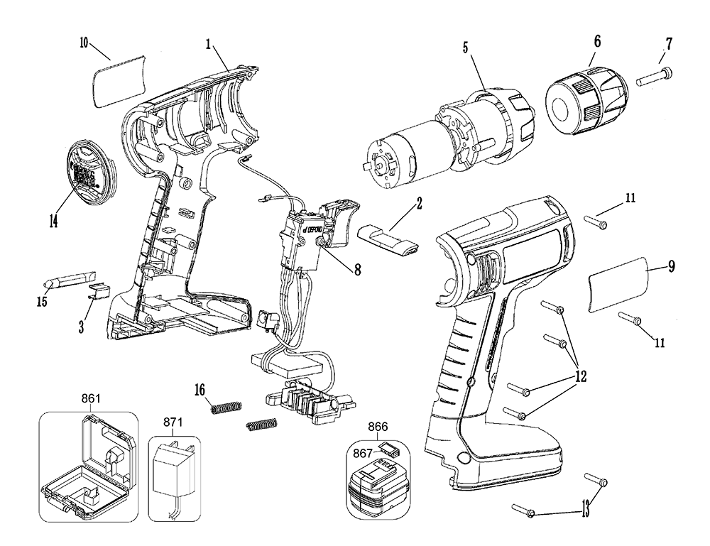 de walt cordless drill parts diagram  de  free engine