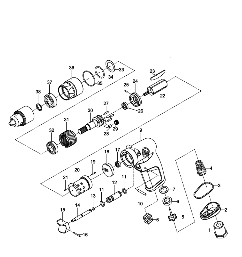 Pneumatic Counter Schematic Part : Buy chicago pneumatic cp p replacement tool parts