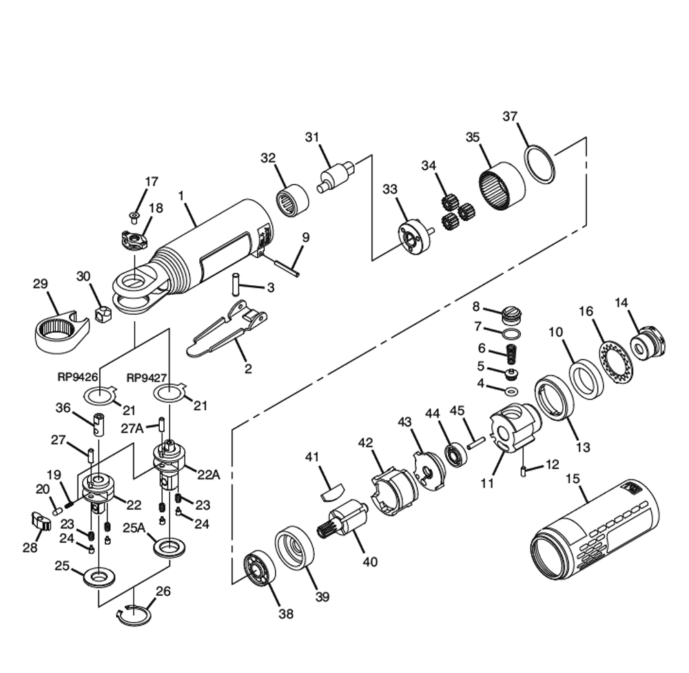 Pneumatic Counter Schematic Part : Buy chicago pneumatic cp inch heavy duty ratchet