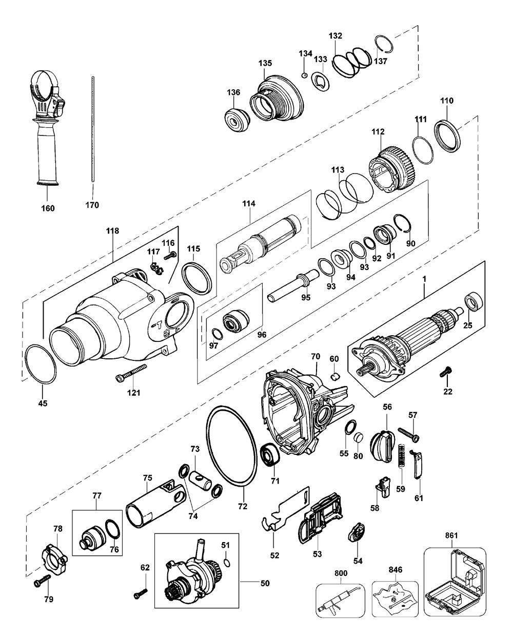 D25103KAR-Dewalt-T1-PB-1Break Down