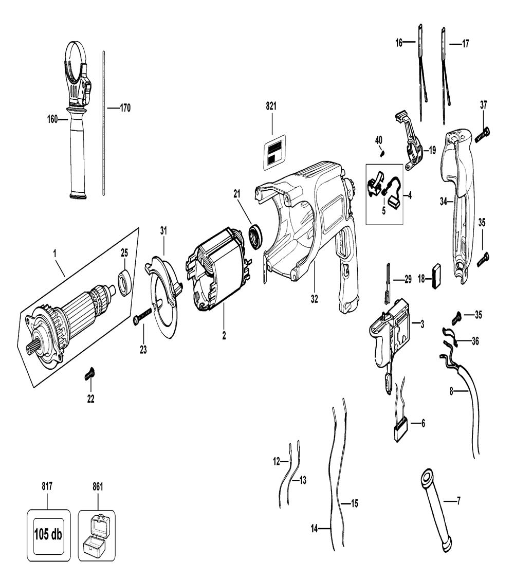 D25113K-AR-Dewalt-T2-PB-1Break Down