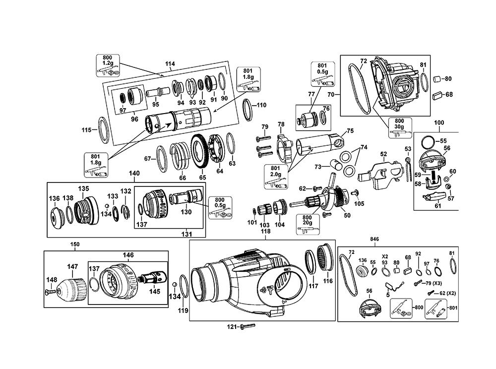 D25124K-AR-BlackandDecker-T1-PB-1Break Down