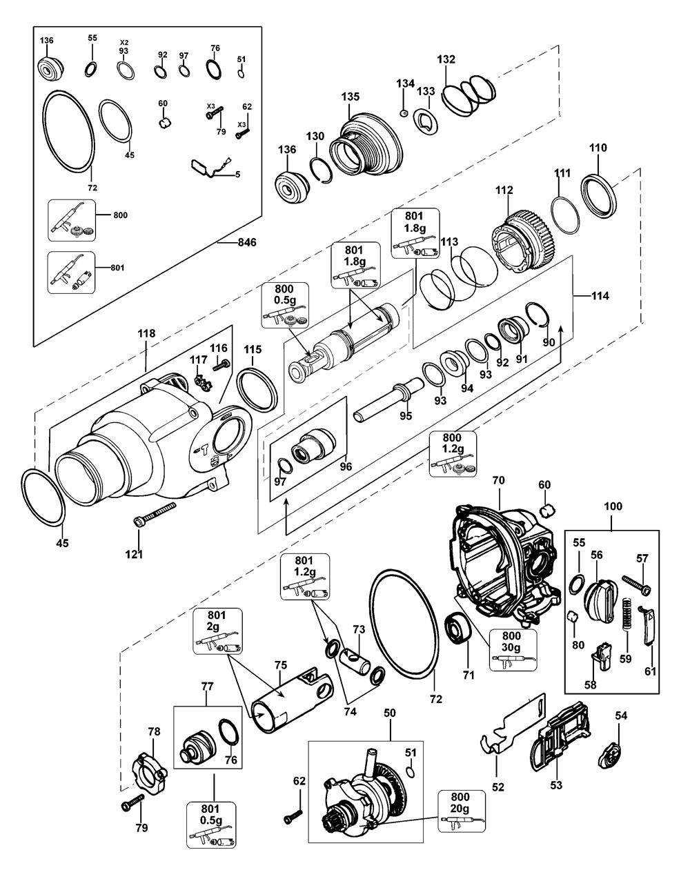 D25313K-AR-Dewalt-T1-PB-1Break Down
