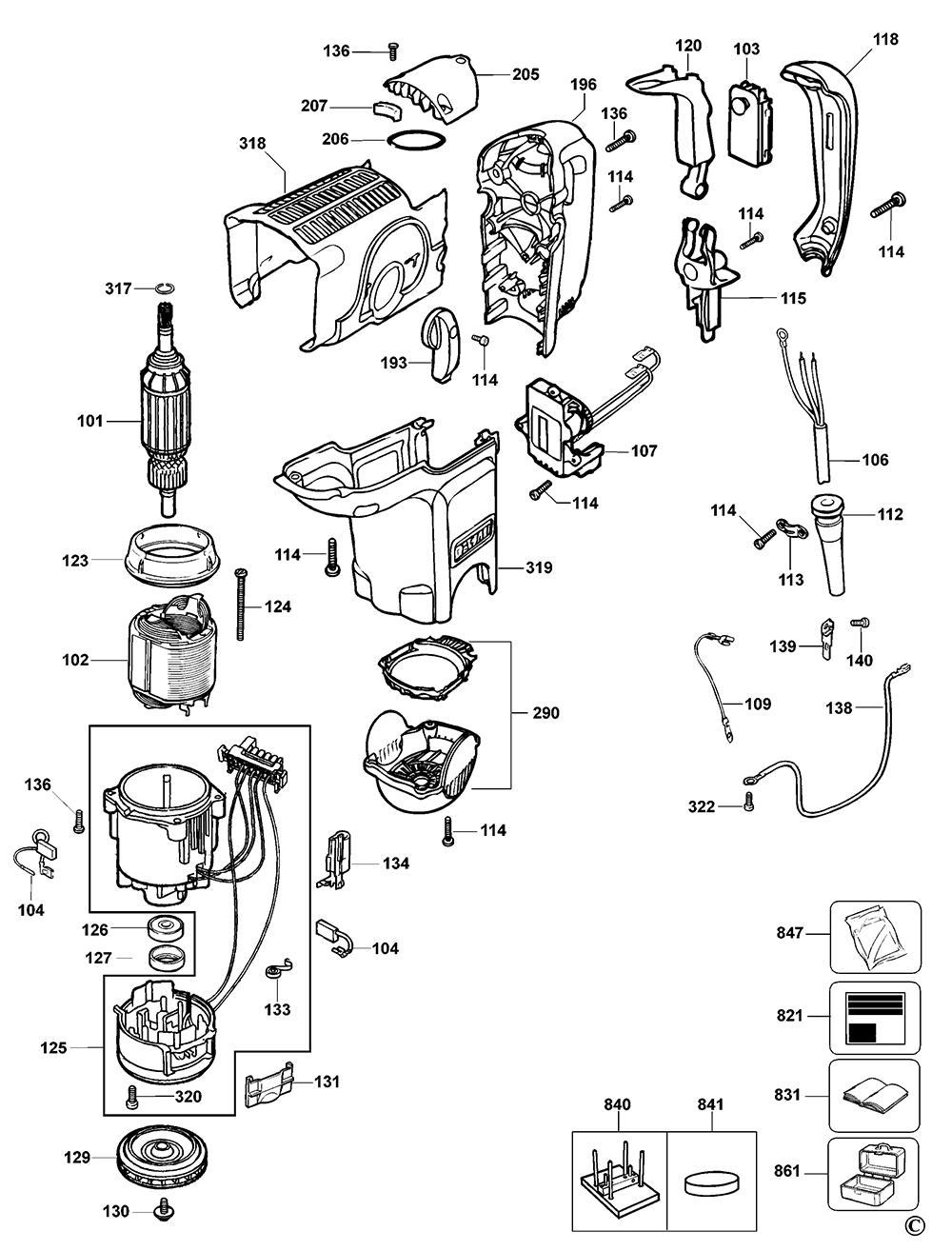 D25500KBR-Dewalt-T1-PB-1Break Down