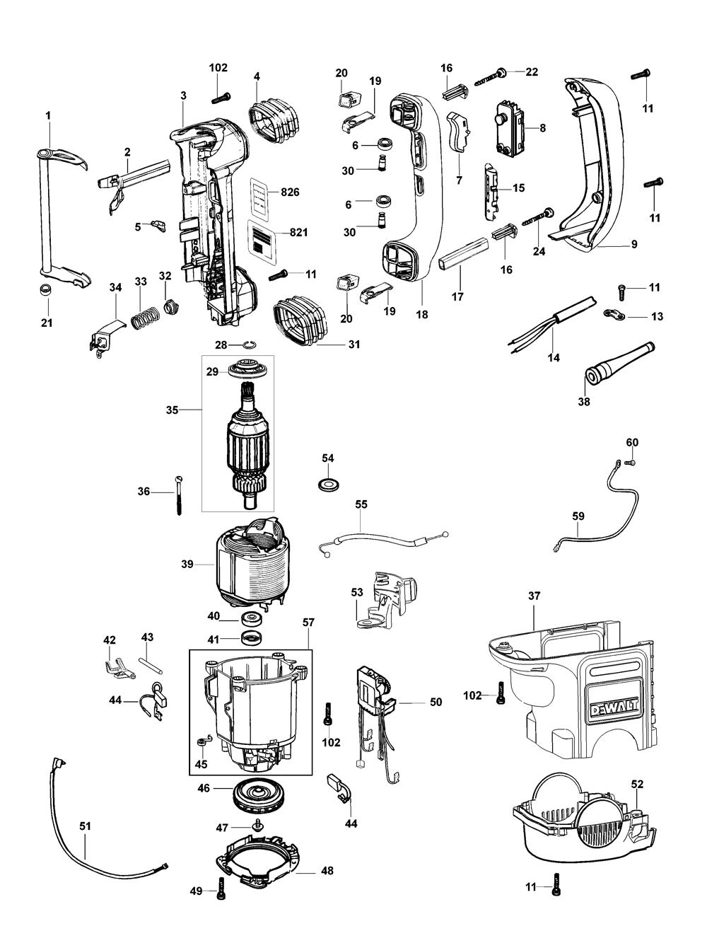 D25701K-AR-Dewalt-T2-PB-2Break Down